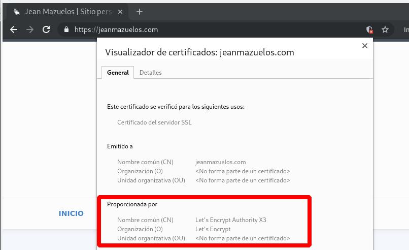 Sitio web con certificado SSL