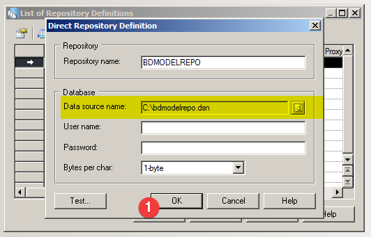 Power Designer : Direct Repository Definition