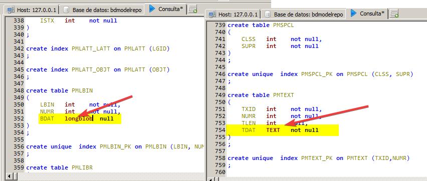 HeidiSQL : Editando script SQL