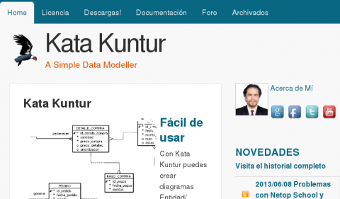 Nueva apariencia del sitio web de Kata Kuntur