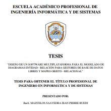 TESIS PARA OBTENER EL T Í TULO PROFESIONAL DE INGENIERO EN INFORM Á TICA Y DE SISTEMAS